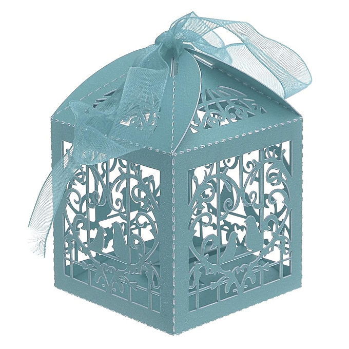 UNIVERSAL 25Pcs Bird Cage Laser Cut oniere Boxes Wedding Favor Shower Candy Gifts Wrap à prix pas cher