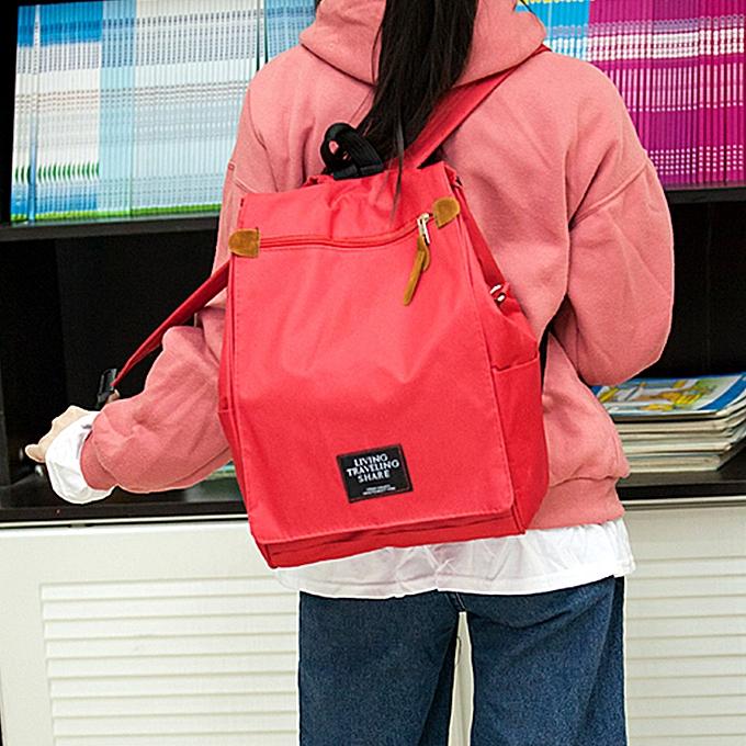 Fashion Singedan Shop Wohommes Leisure Canvas Bag Shoulder Bookbags Satchel Travel Backpack RD à prix pas cher