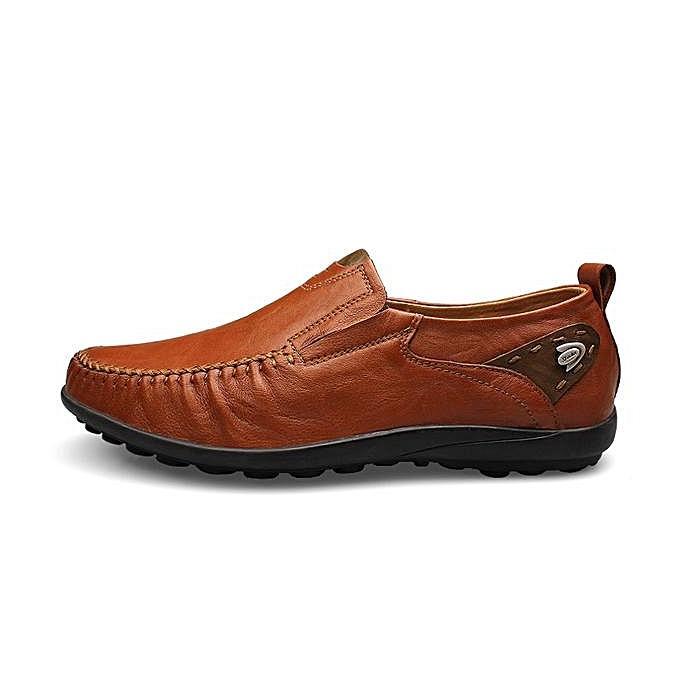 Fashion Big Size   Genuine Leather British Style prix Soft Print Slip On Business Shoes-EU à prix Style pas cher  | Jumia Maroc 442333