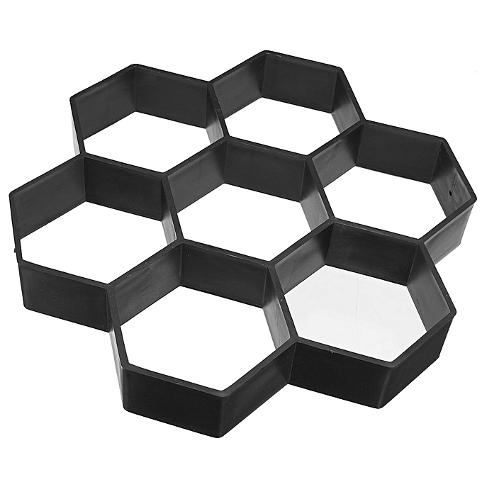 UNIVERSAL 2PCS Hexagon Stone Mold Paving Concrete Stepping Stone Mould Pavement Paver noir à prix pas cher