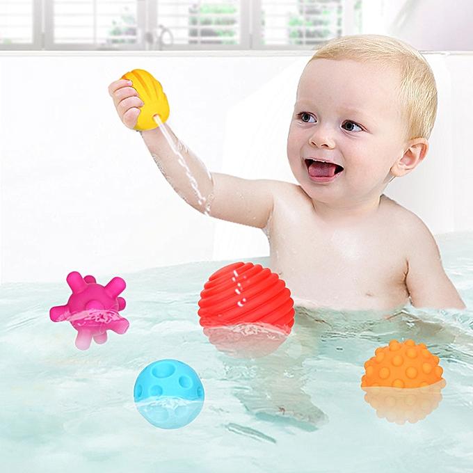 Generic 6Pcs Bath Toy   Massage Sensory DevelopHommest Educational Ball Sound Set Toy à prix pas cher