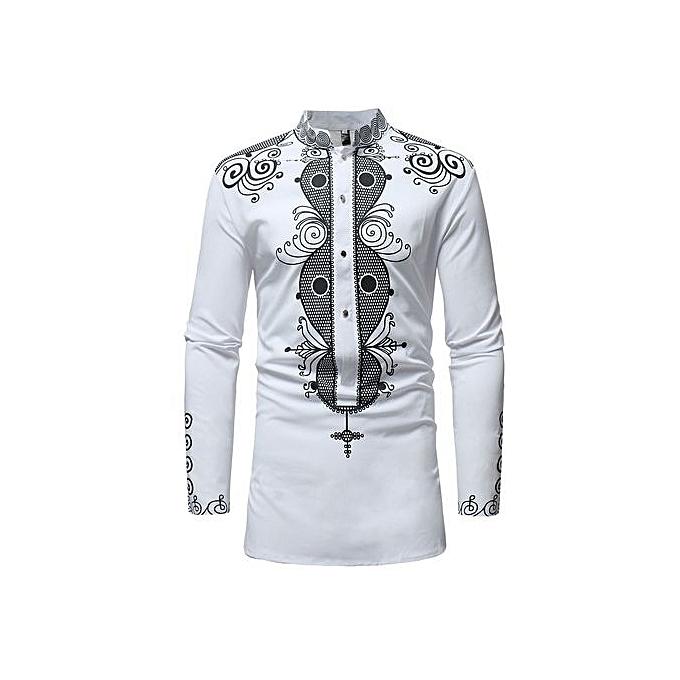 Other Hommes& 039;s manche longue Printed V-neck Shirt Plus Taille à prix pas cher