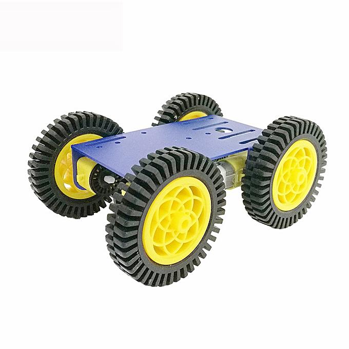 UNIVERSAL C101 Mini DIY 4wd intelligent Robot voiture Base Chassis Toy RobotWith TT Motor Metal Panel-noir1 120 à prix pas cher