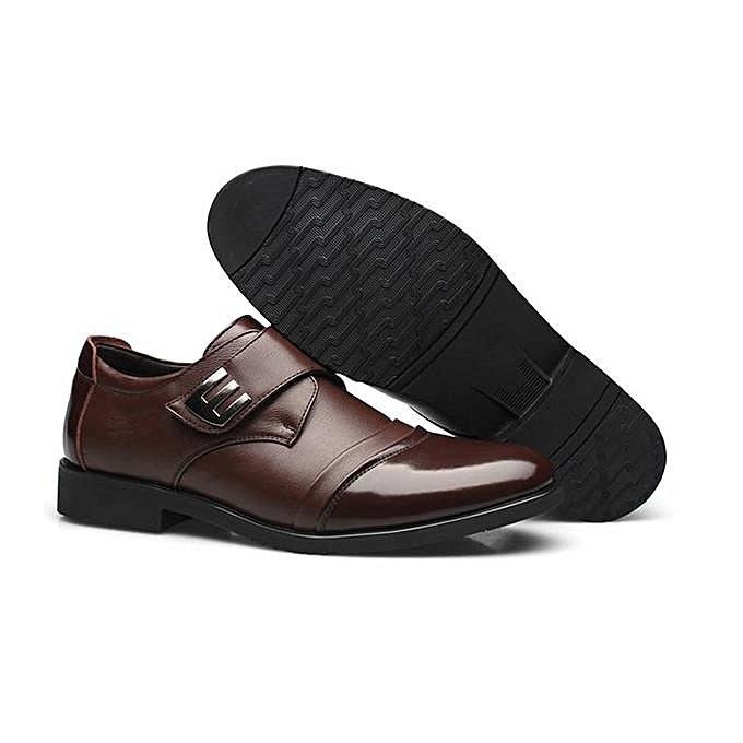 Fashion Fashion   Fashion  Hook Loop Genuine Leather Formal Business Shoes Brown-EU à prix pas cher  | Jumia Maroc 88749c