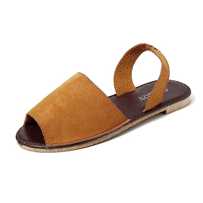 Fashion femmes Summer Fish Mouth Slip On Sandals chaussures à prix pas cher