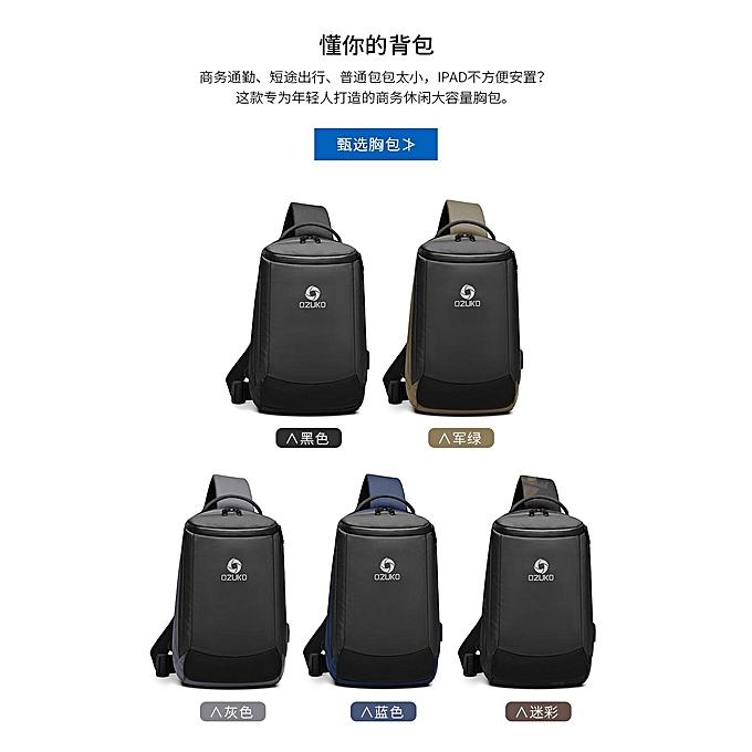 Fashion Waterproof hommes chest bag creative usb outdoor chest bag hommes creative casual hommes Messenger bag à prix pas cher