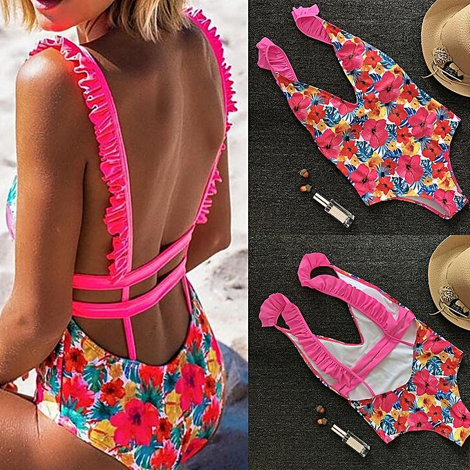 mode quanxinhshang femmes Bikini Set maillot de bain Push-Up Padded FFaibleer Print Bra maillot de bain plagewear à prix pas cher