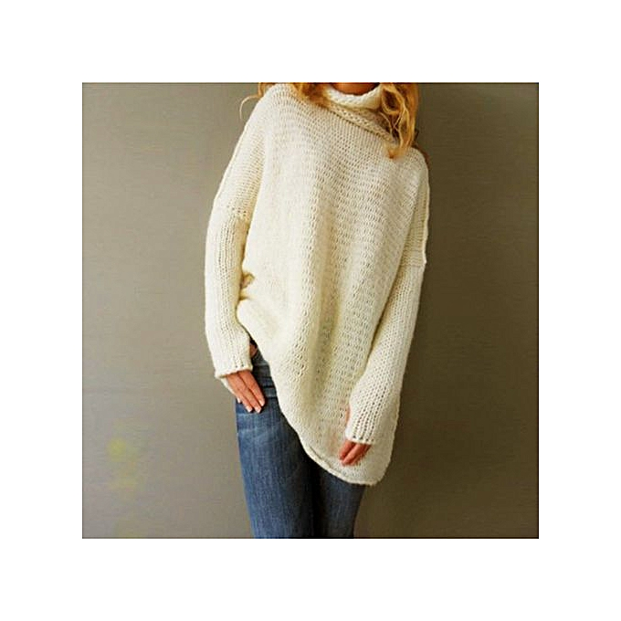 Fashion Tectores Fashion  femmes Loose Long Sleeve Fall Winter OverTaille Sweater Jumper Shirt Tops à prix pas cher