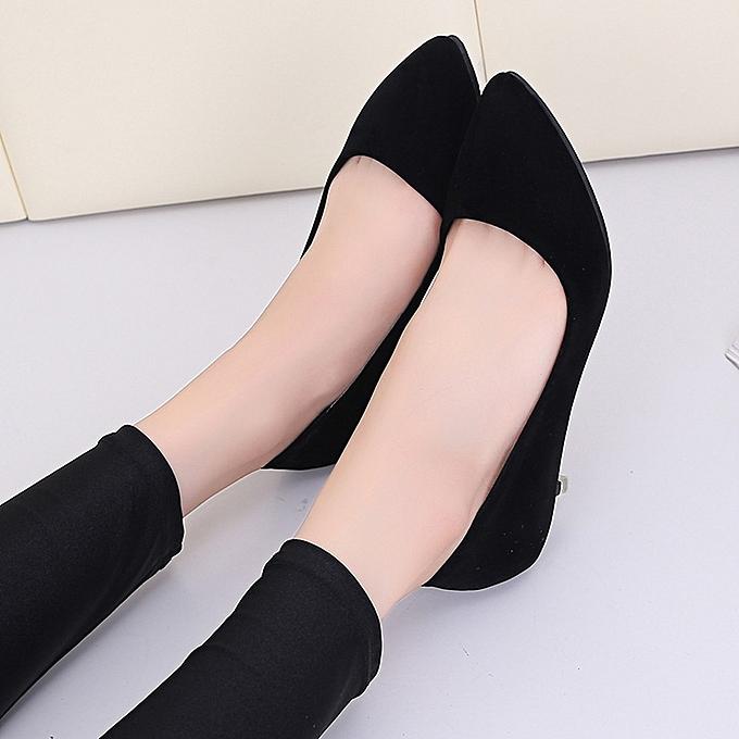 Générique Sedectres WoHommes  Fashion Nude Shallow Work Mouth Elegant   Office Work Shallow High Heels Shoes-Black à prix pas cher  | Jumia Maroc 60aa4f