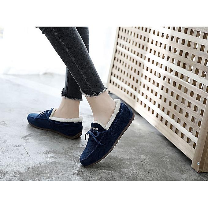 Fashion New Winter Winter Winter WoHommes  Models   Velvet Low Help Flat Peas Shoes Casual A Pedal Home Cotton Shoes WoHommes 's Warm Rubber Bottom Shoes à prix pas cher  | Jumia Maroc d8a933