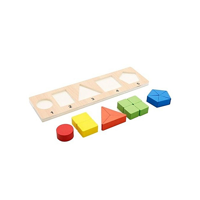 OEM Enfants boisen Educational Toys Fraction Learning Geometric Shape Recognition Board Stacking Sort Puzzle Toy Style C à prix pas cher