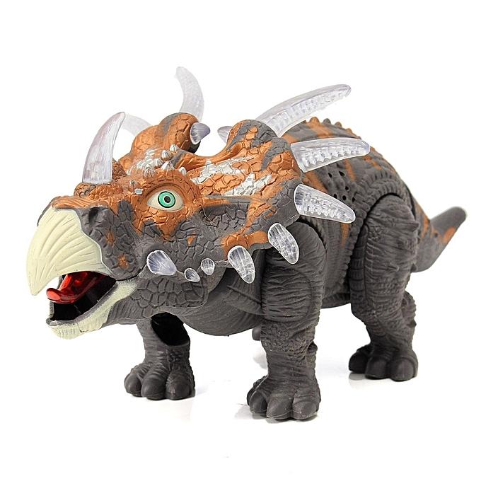 UNIVERSAL Emulational Tricerahauts Play Set lumière Up Sound en marchant Dinosaur World Toy à prix pas cher