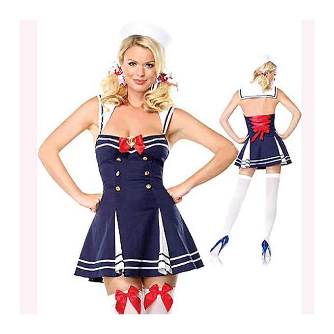 OEM femmes Sexy Navy Costumes With Bowknot à prix pas cher