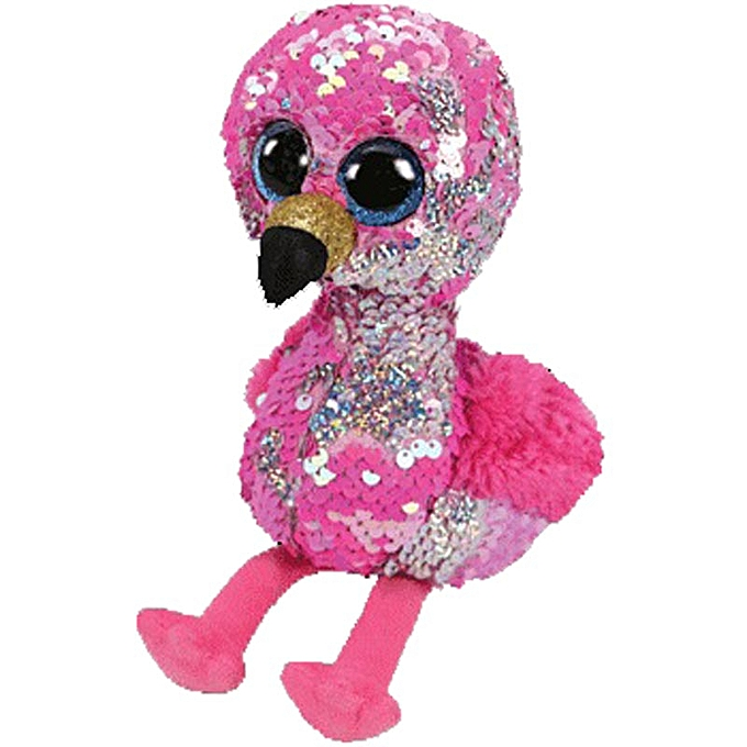 Autre Ty Beanie Boos Plush Animal Doll Sequin Soft Stuffed Cat Owl Fox Rabbit Unicorn Flamingo Sheep Dragon Dog Penguin Toys 6  15cm(rosey The Flamingo S) à prix pas cher