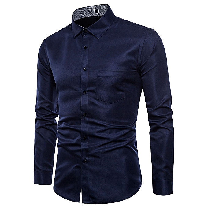 Fashion jiahsyc store Mens Long Sleeve Oxford Formal Casual Suits Slim Fit Tee Shirts Blouse Top NY L à prix pas cher