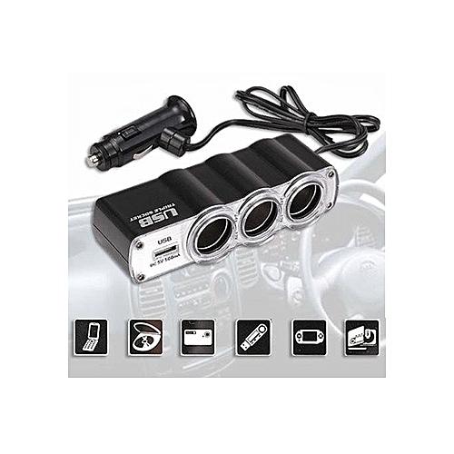 Chargeur Haute Qualite Adaptateur USB pour voiture  convertisseur allume-cigare  vers 1USB +3 852289bfaba9
