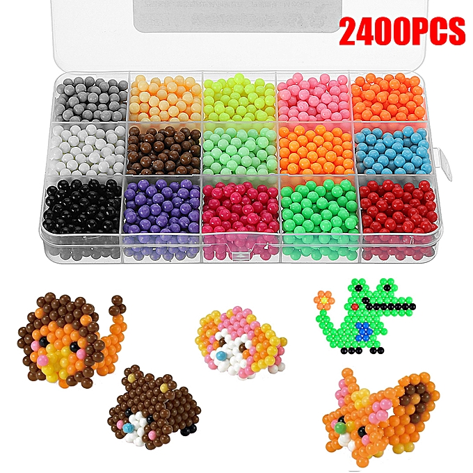 UNIVERSAL Couleurful Toys Fuse Water Beads Balls Sticky Perler Pegboard DIY Craft Art Play à prix pas cher