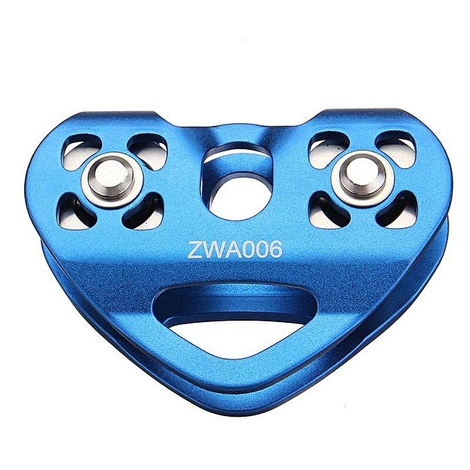 UNIVERSAL Outdoor Rock Ice Climbing Equipment Accessary Rescue Cable Trolley Aluminum Alloy Speed Pulley bleu à prix pas cher