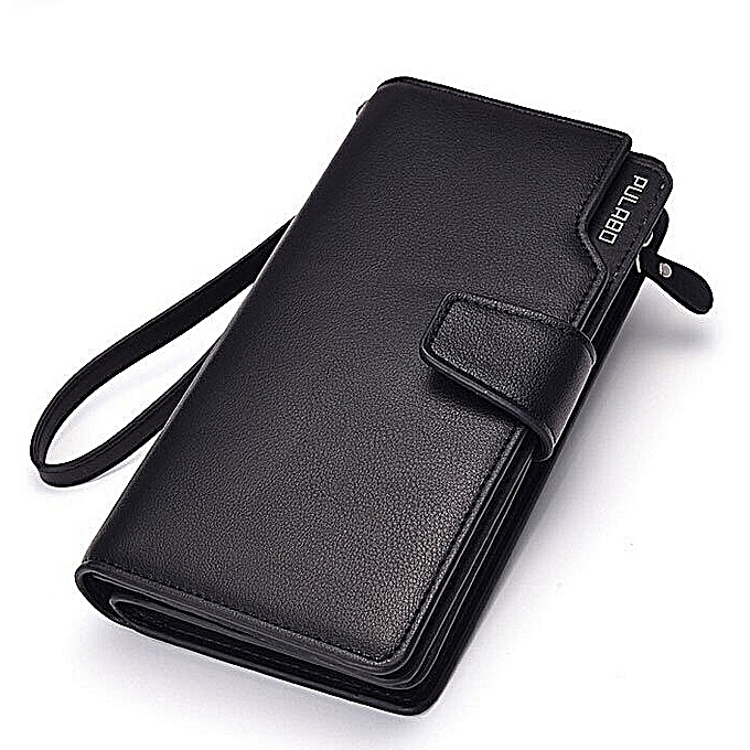 Fashion Men Premium PU Leather Wallet Money Bag noir (Couleur c0) à prix pas cher