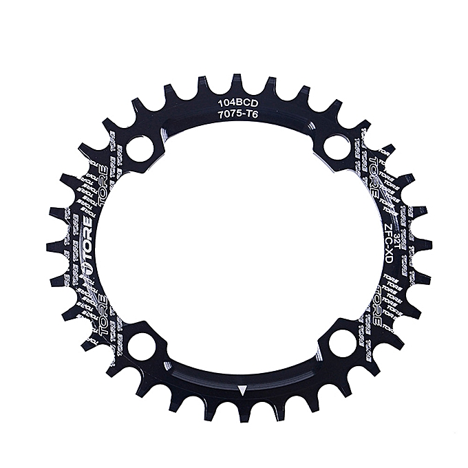 OEM 104BCD 32T Ultralight Alloy Bike Bicycle Chainring Oval Round Chainwheel BK à prix pas cher