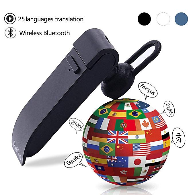 Other Peiko translation headphones 25 Languages Smart Voice Translator instant Translate   Translator Earphone WAAAA à prix pas cher