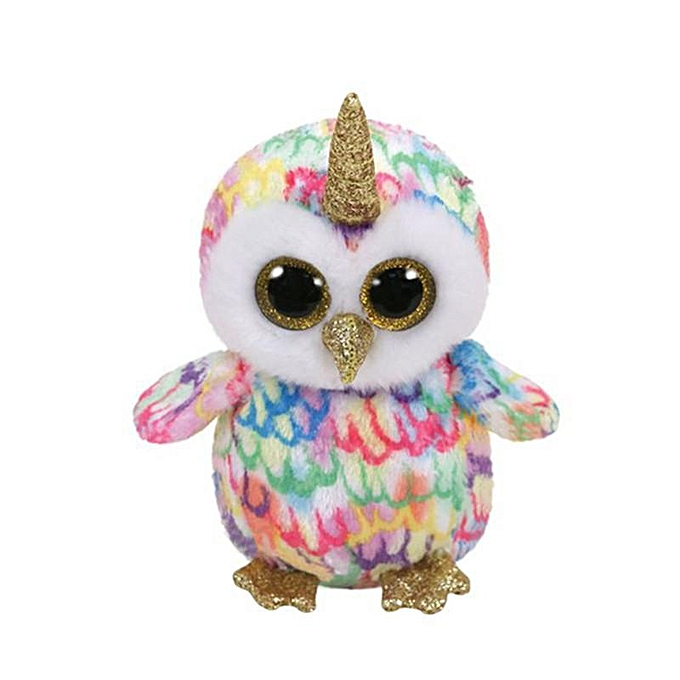 Autre Ty 6''15cm Beanie Babies Boos Angusd Unicorn Owl Husky Plush Soft Animal Plush Toy Collection Toys(Peacock bleu) à prix pas cher