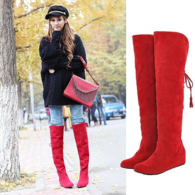Fashion Winter Warm WoHommes 's Over knee knee Over Long Snow Boots Increased Tassel Fur Thigh Shoes à prix pas cher    Jumia Maroc d68820