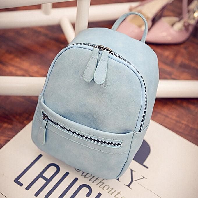 mode Tcetoctre femmes Girl sac à dos Shoulder Booksacs School sac Satchel voyage cuir sac à dos-bleu à prix pas cher
