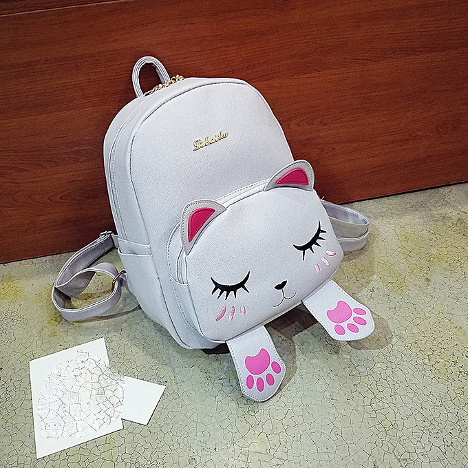 Fashion quanxinhshang _Cat Bag Students Girls Back Pack School Backpacks Funny Shoulder Travel Bag GY à prix pas cher