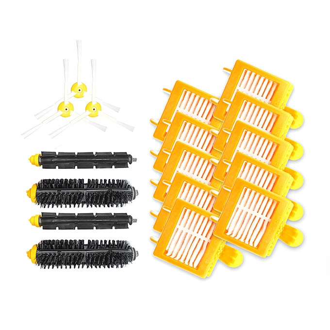 Other Replacement Parts 10Pcs HEPA Filters + 3Pcs Side Brushes + 2Pcs Bristle Brushes + 2Pcs Flexible Beater Brushes for Roomba 700 Series à prix pas cher