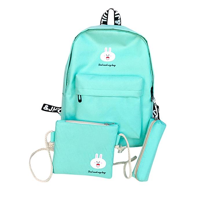 Generic 3 Sets femmes Girl Rabbit Animals voyage sac à dos School sac Shoulder sac Handsac à prix pas cher