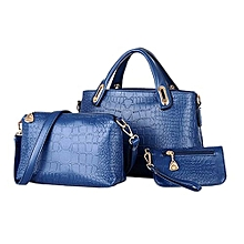 39651a685a119 Bag Three Piece Shoulder Bag Hand For Crocodile Style Four Color To Choose  Blue