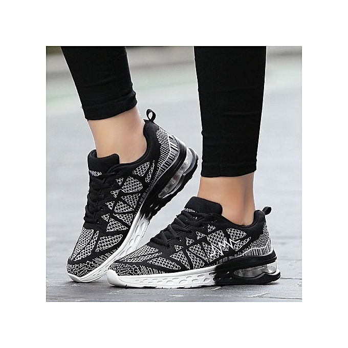 HT WoHommes  Sneakers Sneakers  Air-cushion Sports Shoes Fashion Running Shoes-Black/White à prix pas cher  | Jumia Maroc de8416