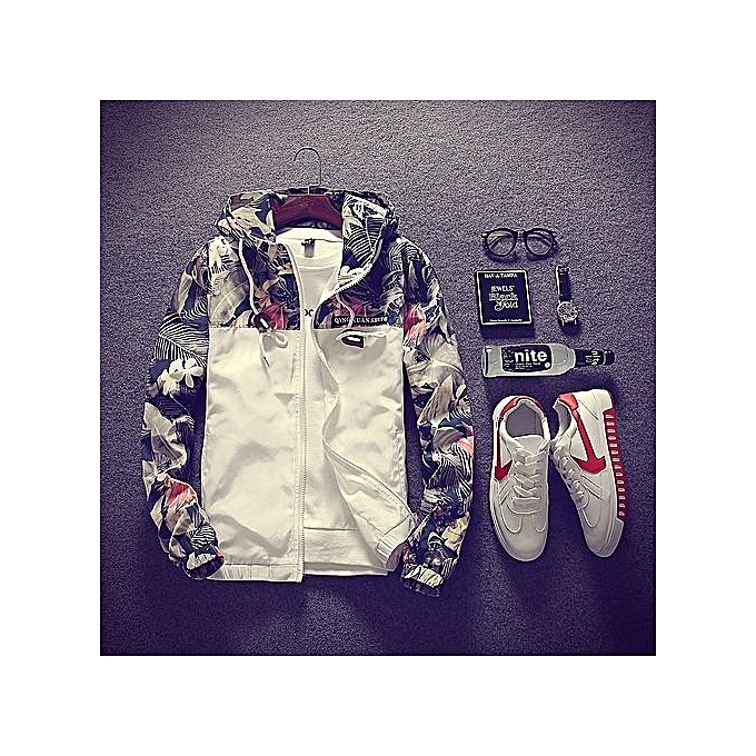Fit Bomber Hop Size Hip Fleurs Plus Slim Veste Floral Hommes Fashion H7p4qn
