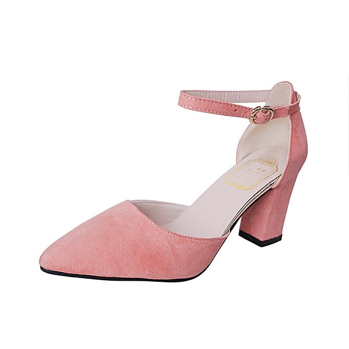 Fashion Wohommes chaussures Korean version of the pointed thick with a bag with a side buckle with a female sandals à prix pas cher    Jumia Maroc
