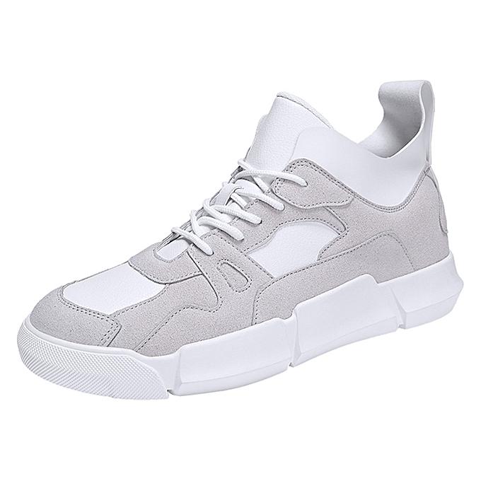 mode Hommes garçons Décontracté paniers Sports FonctionneHommest respirant Flat Patchwork Lace-up chaussures à prix pas cher