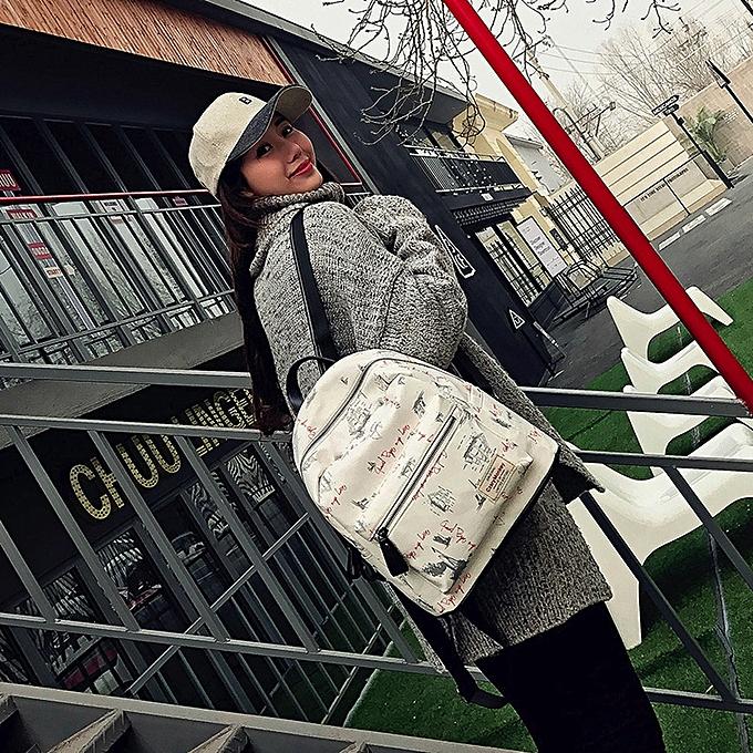 mode Tcetoctre femmes Teenage Girl Boy Zipper sac à dos School sacs mode Shoulder sac-blanc à prix pas cher