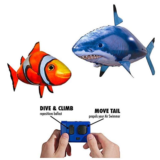 OEM Gif gonflable d'enfants de nageur d'air de jouet de ballon de poisson de requin de contrôle de Romote à prix pas cher