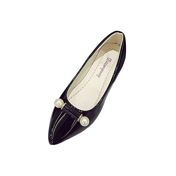 Fashion Hiamok_Fashion Casual chaussures Pregnant femmes chaussures Pearl Breathable Flat chaussures BK 39 à prix pas cher