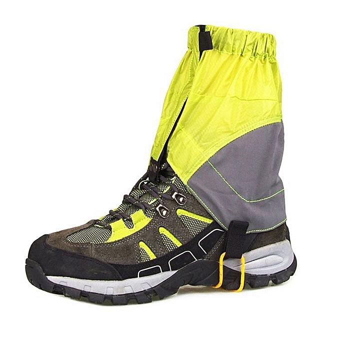AONIJIE Camping Gaiters Waterproof Hiking Climbing Hunting Snow Legging Gaiters Leg Prougeection Guard Windproof Shin Prougeect(vert) à prix pas cher