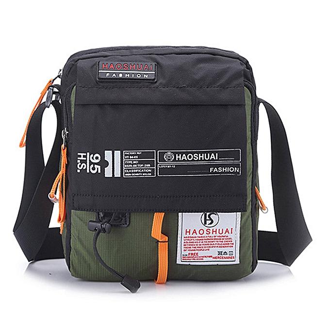 Other Men Nylon Messenger Bag Shoulder Crossbody Bags Multifunction Fashion Casual Hiking Bicycle Travel Satchel School Handbag XA80ZC( vert) à prix pas cher
