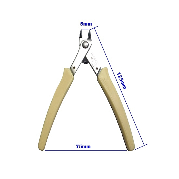 Other Japan Style Electrical Wire Cable Cutters Mini Nose Cutting Nipper Plier Metal Puzzle Modeling Work Side Cutting Hand Tool(Light jaune plier) à prix pas cher