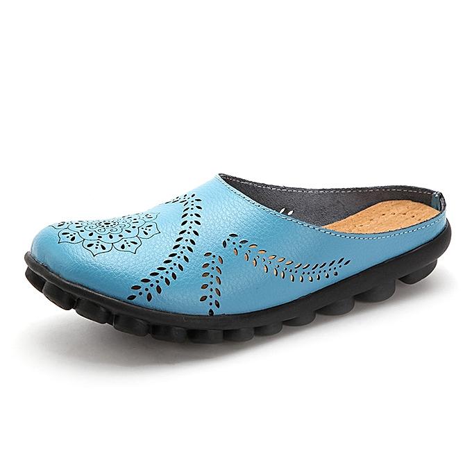 Fashion Large Taille Hollow Out Pure Couleur Soft Casual Flats femmes chaussures à prix pas cher    Jumia Maroc
