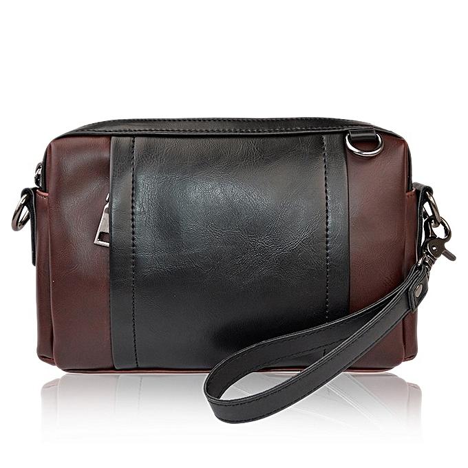 Other Men Leather Patchwork handbag Waterproof  Messenger Bags Bag for Male Crossbody Casual Bag Briefcase for short trip XA166WC(noir) à prix pas cher