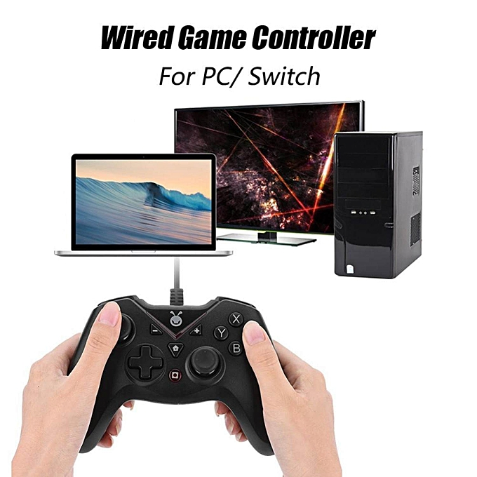 Other USB Game Controller for PC Double Vibration Wirouge Game Controller Precise Positioning USB Gamepad for PC Switch LBQ à prix pas cher