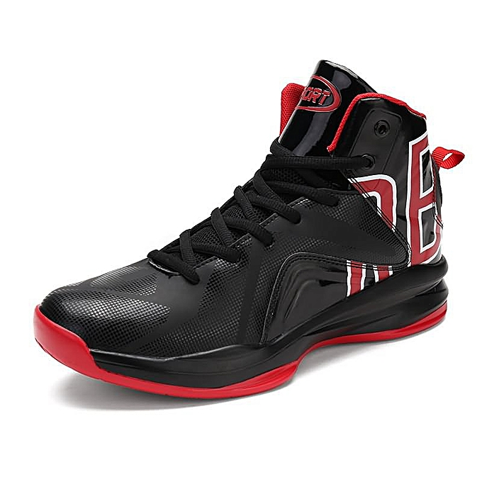 Fashion Men's Ankle High-Top Sports Basketball chaussures - noir and rouge à prix pas cher    Jumia Maroc