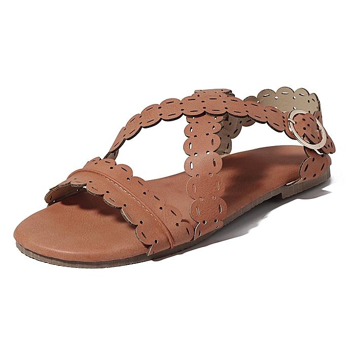 Fashion US Taille 5-11 femmes Flat Open Toe Rohomme Sandals à prix pas cher