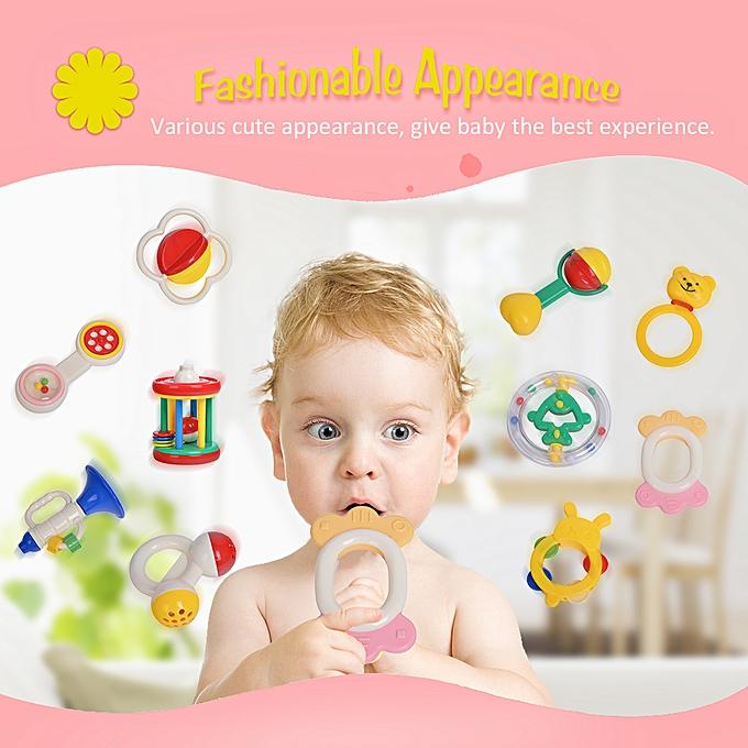 Autre GOODWAY 3310   Hand Rattles Kit Teether Bed Bell Toys Enfants Happy Buddy nouveauborns Gift à prix pas cher