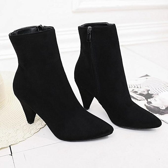 Fashion and Block Block and Heel Bare Boots Female able Short Ankle Martin Boots Shoes à prix pas cher  | Jumia Maroc e368ad