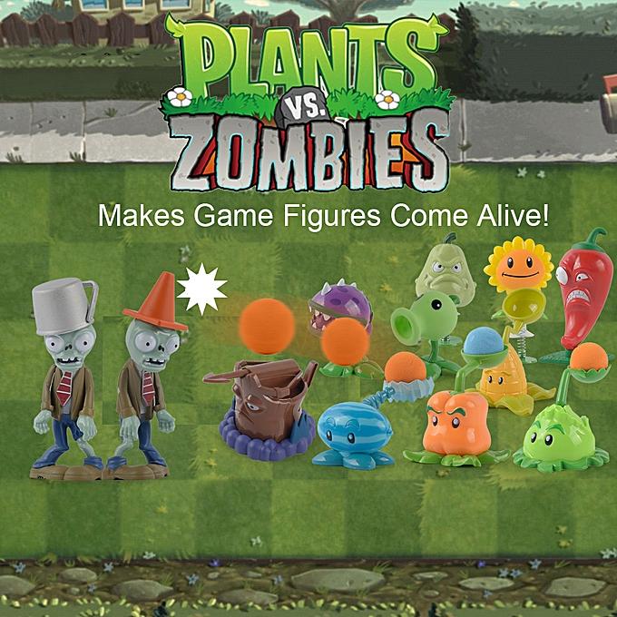 Autre 12Pcs Plants VS Zombies Action Figure Set Collectible Mini Figure Toy Kids Dolls Birthday Gift à prix pas cher